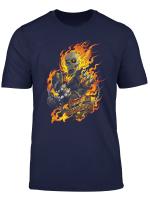 Marvel Ghost Rider Spirit Of Vengeance Flaming Skull T Shirt