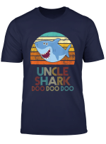 Mens Retro Vintage Uncle Shark Tshirt Gift For Father Day