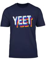 Yeet Dank Meme Gag For Kids Colorful Retro Basketball Slogan T Shirt