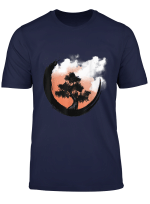 Bonsai Tree Japanese Zen Yin Yang Buddhist Circle T Shirt