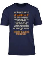 Geschenk Zum 70 Geburtstag Traeger 70 Lustiges T Shirt
