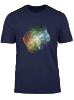 Sacred Geometry T Shirt Colorful Universe Fibonacci Golden