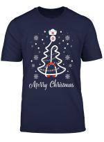 Merry Christmas Stethoscope Nurse Christmas Tree Xmas Tshirt
