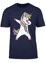 Dabbing Unicorn T Shirt Unicorns Rainbow Squad Party Gift T Shirt