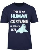 Seelowen Robben Menschliches Kostum Seehund Seerobbe T Shirt