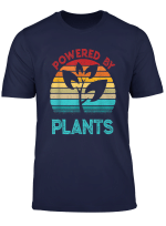 Vintage Powered By Plants Vegan Vegetarian Food Plant Gift T Shirt