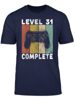 Herren 31 Geburtstag Manner Shirt Gamer Tshirt Level 31 Complete T Shirt