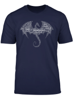 Dnd Dragon Word Art Tabletop Rpg Dungeons Game D20 Gift T Shirt
