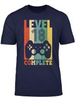 Herren 18 Geburtstag Geschenk Shirt Level 18 Junge Gamer Zocker