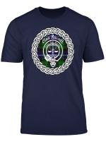Russell Surname Last Name Scottish Clan Tartan Badge Crest T Shirt