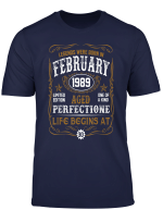 February 1989 30Th Birthday Gift 30 Year Old For Men Women