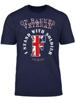 I Stand With Soldier F Op Banner Veteran T Shirt