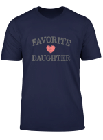 Birthday Favorite Daughter Heart Distressed Vintage T Shirt