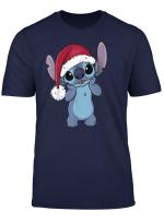Disney Lilo Stitch Christmas Santa Hat Stitch T Shirt