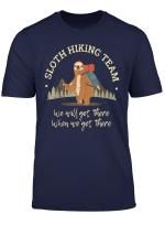 Herren Faultier Wander Team Sloth Hiking Team T Shirt