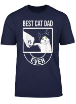 Best Cat Dad Ever Funny Paw Kitten Cat Fist Bump T Shirt