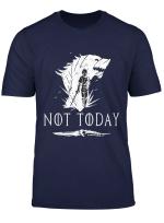 Women Not Today Game Of Shirt Sword Film Fan Man Gift Tee