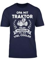 Herren Opa Mit Traktor Nur Cooler Lustiges Opa Opi Grossvater T Shirt