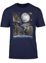 Universe Three Moon Tapirs Random Galaxy Stars Tapir Design T Shirt