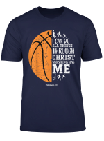 Christian Basketball Shirt I Can Do All Things Philippians