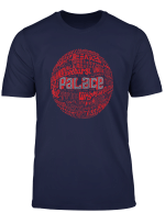 Crystal Palace Red Typography Print T Shirt