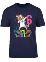 Youth 6 Years Old 6Th Birthday Unicorn Shirt Girl Daughter Gift Pa