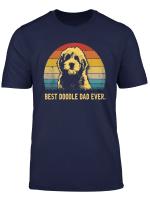 Mens Vintage Goldendoodle Dad T Shirt Best Doodle Dad Ever Gift