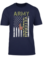 American Flag Camo Proud Us Army Veteran T Shirt