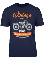 Vintage Since 1949 70Th Birthday Motorcycle Biker T Shirt
