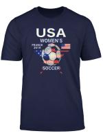 Women Soccer Usa Team Tshirt France 2019 World Tournament T Shirt