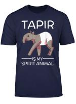 Tapir Is My Spirit Animal Funny Gift Cute T Shirt
