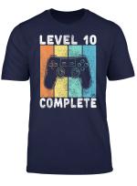 10 Geburtstag Jungen Gamer Level 10 Complete 10 Jahre T Shirt