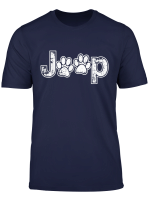 Funny Jeeps Paw Print Dog Lovers Distressed Men Women Gift T Shirt