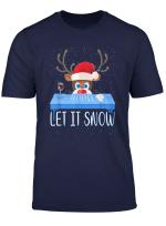 Let It Snow Weihnachtsmann Kokain Fur Erwachsene Rentier T Shirt