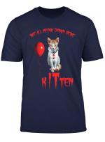 We All Meow Down Here Clown Kitten Halloween Shirt Gift