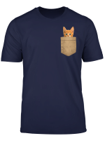 Cute Cat Gift Orange Cat Shirt Kitty Cat In My Your Pocket T Shirt