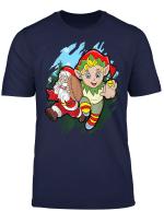 Santa Elf Rugby Christmas Gift Cute Boys Xmas T Shirt