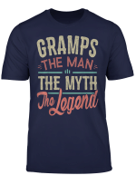 Mens Gramps T Shirt Birthday Gifts For Gramps The Legend