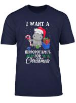 I Want A Hippopotamus For Christmas Hippo Gift Xmas Pajama T Shirt