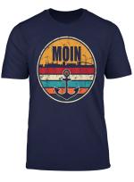 Moin Cooler Spruch T Shirt I Hafen Anker See Meer Segeln