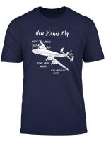 Aeroplanes Aerospace Ingenieur Aviation Flugzeug Pilotshirt