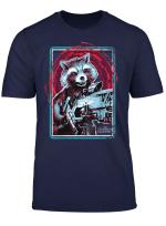 Marvel Infinity War Rocket Raccoon Digital Abstract T Shirt