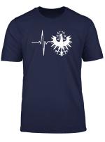 Tiroler Adler Herzschlag T Shirt Tirol Heartbeat Osterreich