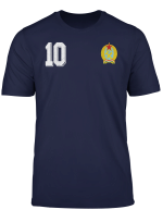 Retro Hungary Soccer Or Magyar Football Jersey Style T Shirt