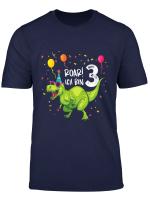 Kinder Geburtstagsshirt 3 Jahre Junge Dinosaurier Dino Ich Bin 3