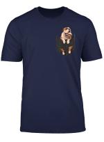 Funny English Bulldog In Pocket T Shirt Gift For Women Men
