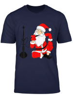 Weihnachtsmann Raucht Shisha Wasserpfeife Geschenk Outfit T Shirt