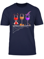 Wine Glass Of Witchcraft Halloween Tshirt Funny