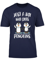 Just A Boy Who Loves Penguins Bird Gift T Shirt