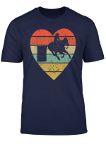 Barrel Racing Vintage Design Retro Horse Rider Heart Sport T Shirt
